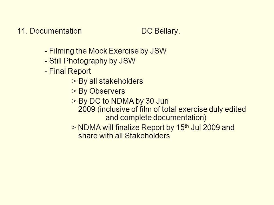 11. Documentation DC Bellary.