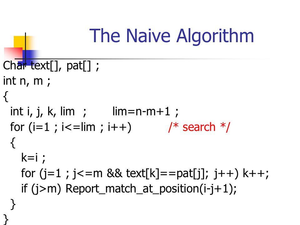 The Boyer-Moore Algorithm (cont.) Example T : xyxabraxyzabracadabra P : abracadabra mismatch, compute a shift