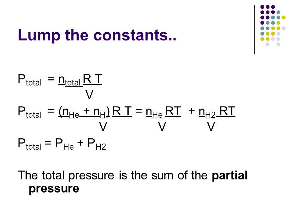 Lump the constants..