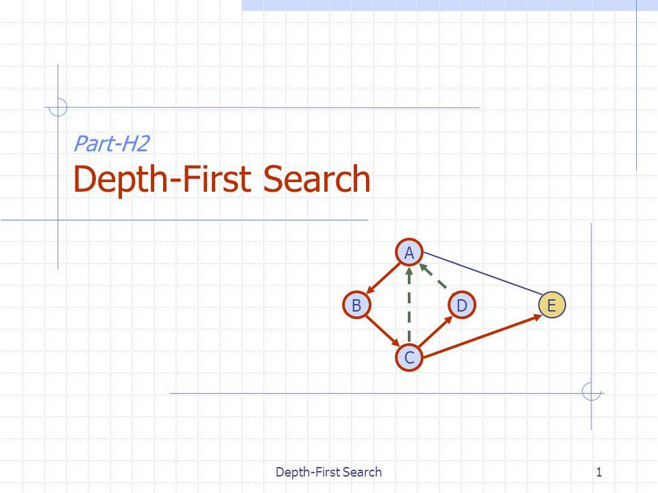 Depth-First Search1 Part-H2 Depth-First Search DB A C E