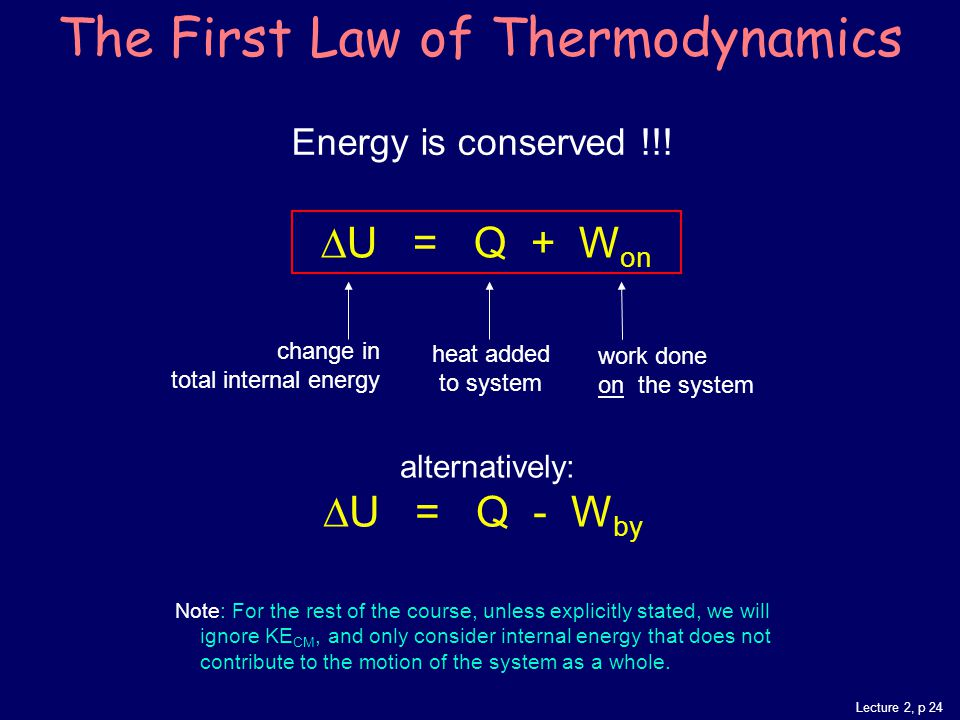 Lecture 2, p 24 Energy is conserved !!.