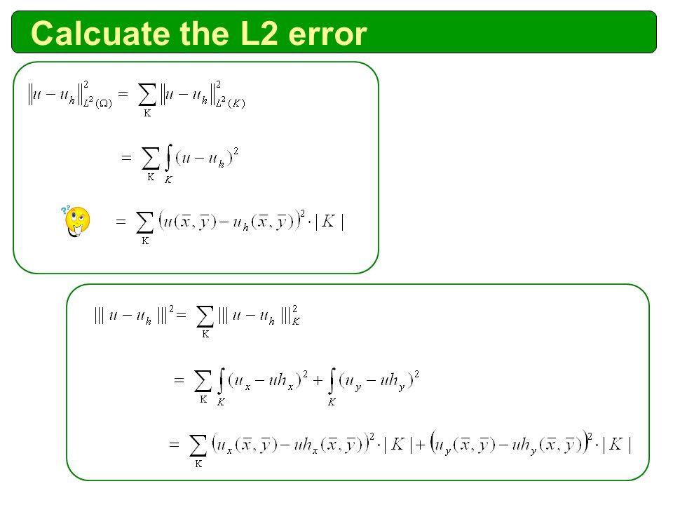 Calcuate the L2 error
