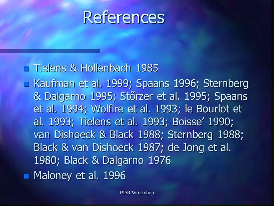 References n Tielens & Hollenbach 1985 n Kaufman et al.