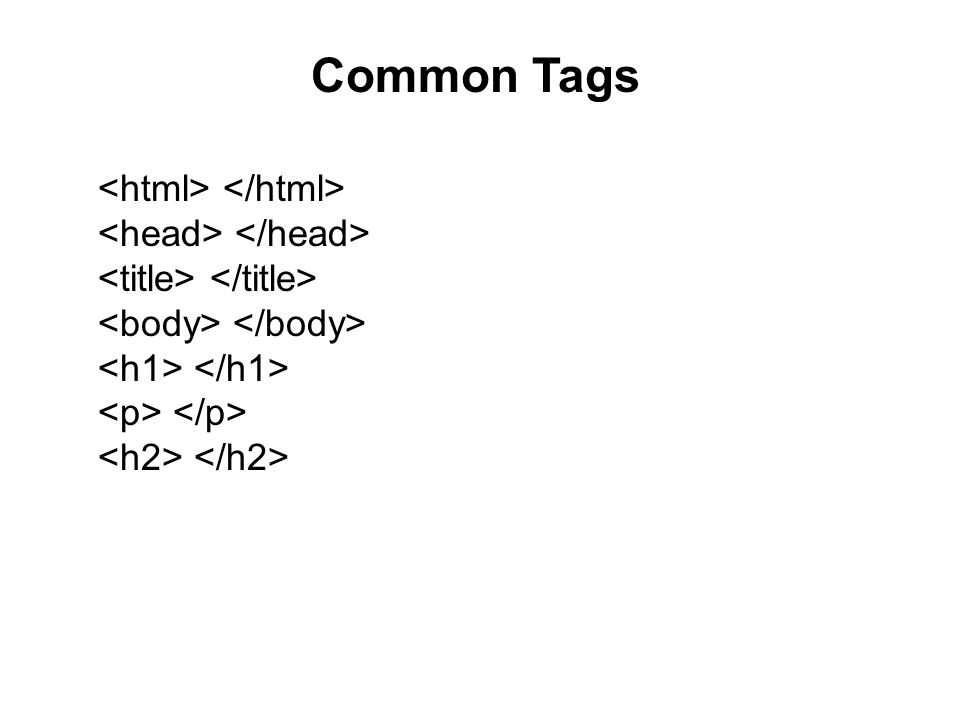 Common Tags
