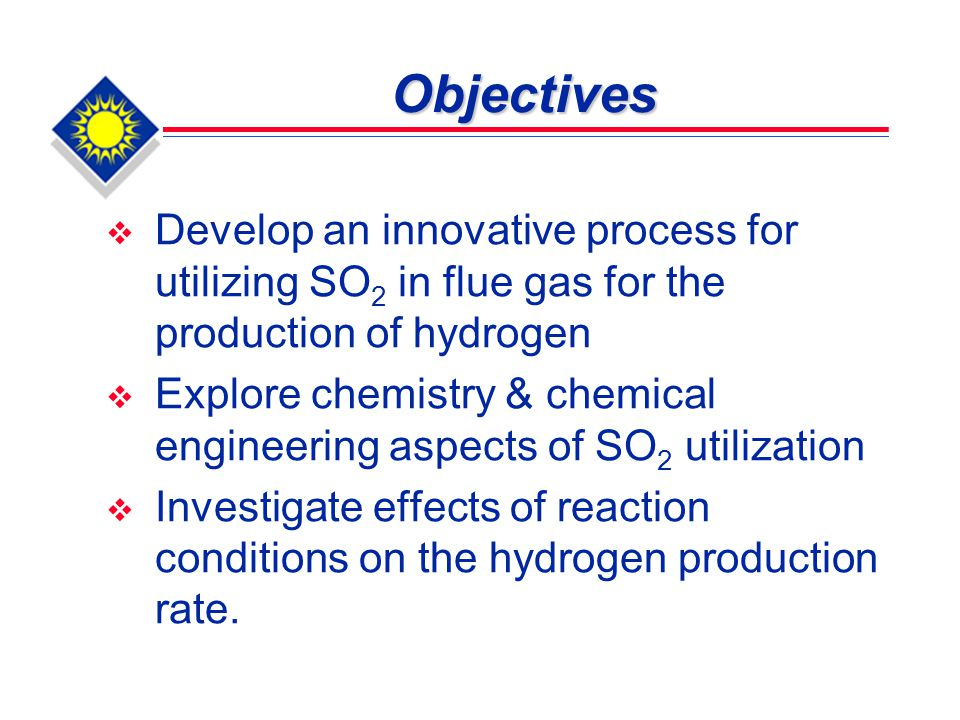 Summary At pH = 9.95, H 2 production rate increases with an increase in the concentration of the sulfite.