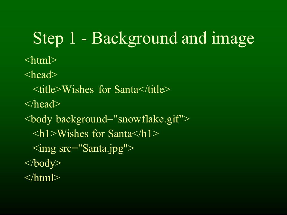 Step 1 - Background and image Wishes for Santa Wishes for Santa