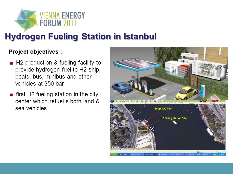 Hydrogen Fueling Station in Istanbul Hydrogen Fueling Station in Istanbul Project objectives : H2 production & fueling facility to provide hydrogen fu