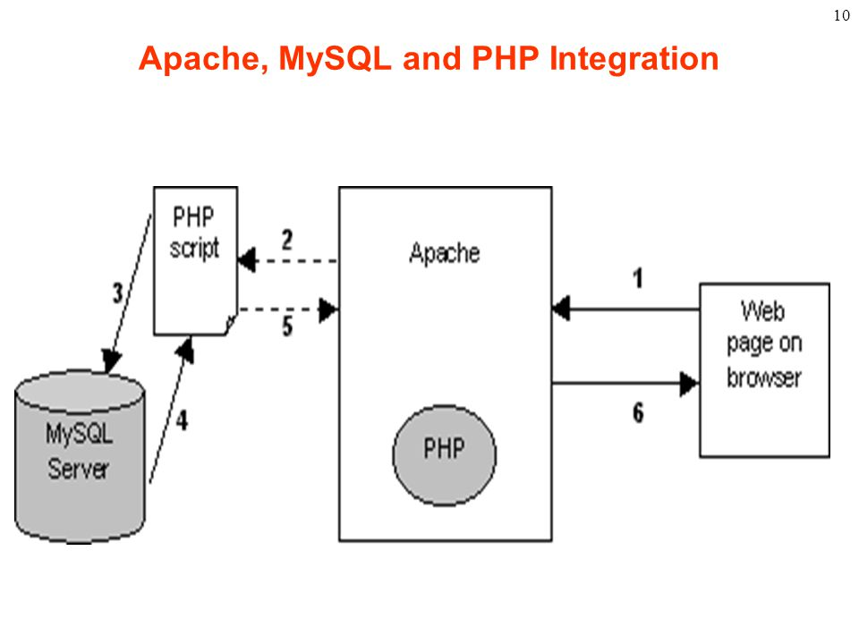 10 Apache, MySQL and PHP Integration