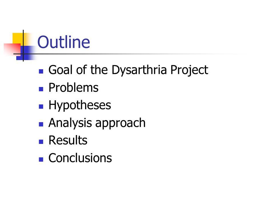 Coarticulation Analysis of Dysarthric Speech Xiaochuan Niu, advised by Jan van Santen