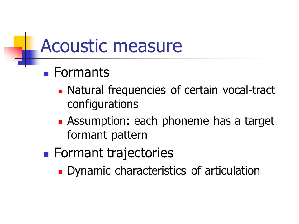 Analysis approach Acoustic measure Speech data Coarticulation model Estimation method