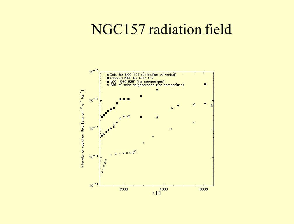 NGC157 radiation field