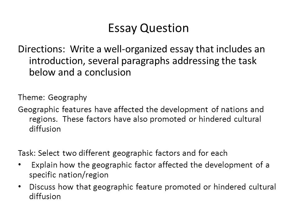 well organized essay