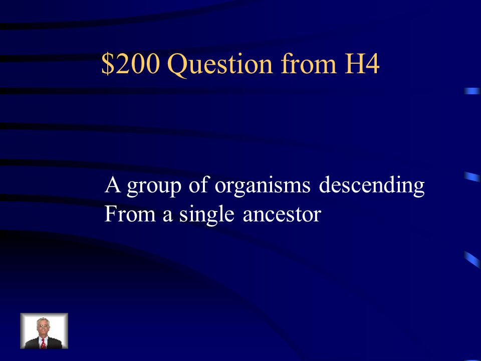 $100 Answer from H4 Derived characters