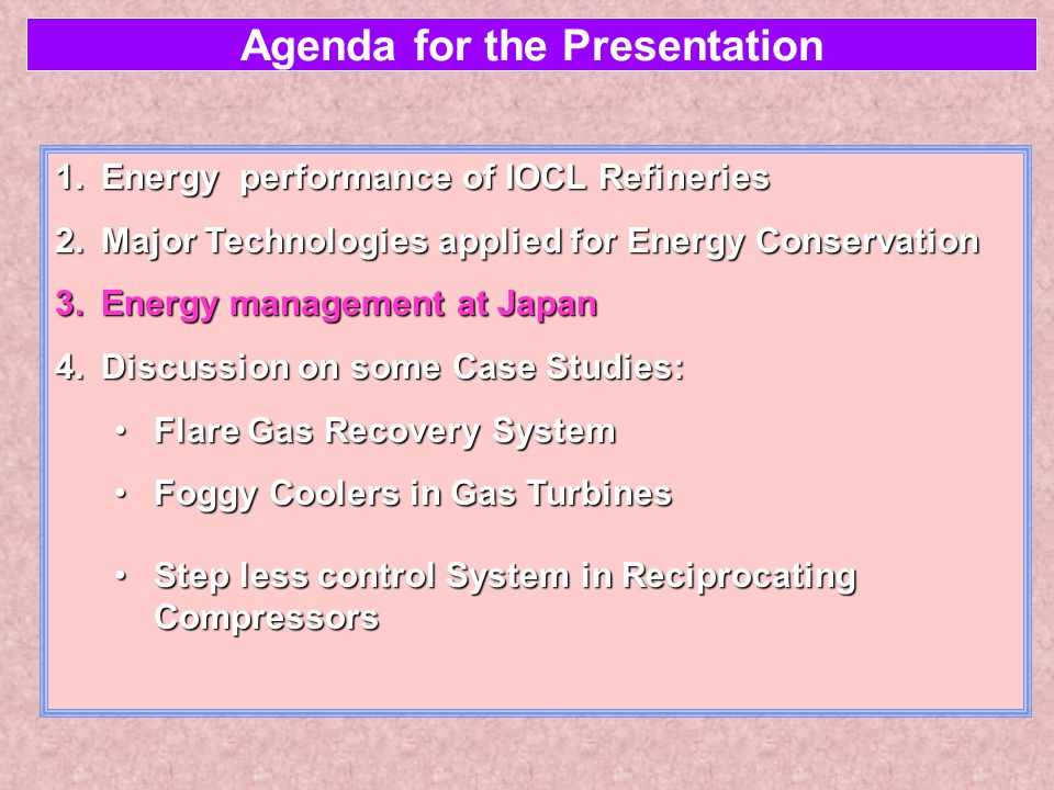 Energy Management at Japan The trigger ♂In Japan Primary Energy consumption per GDP is the lowest in the world.