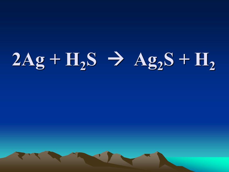 2Ag + H 2 S  Ag 2 S + H 2