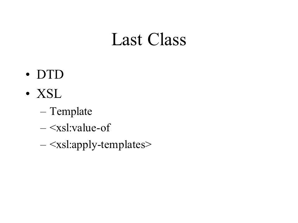 Today More XSL –List elements