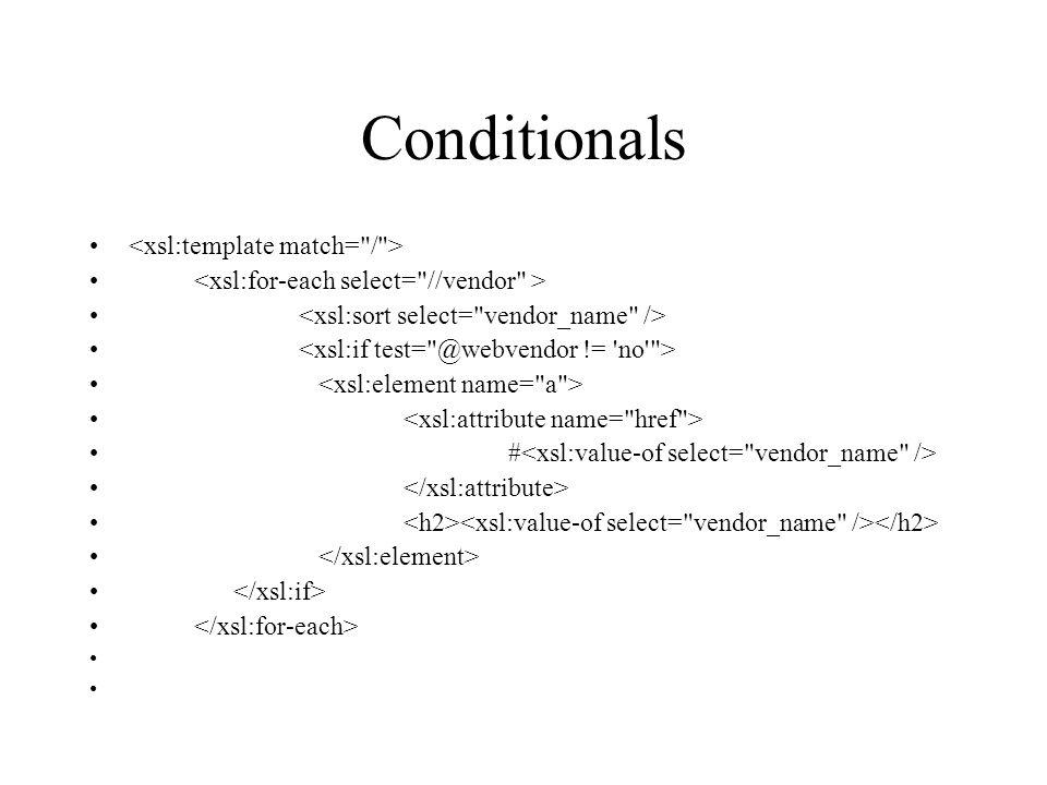 Conditionals #