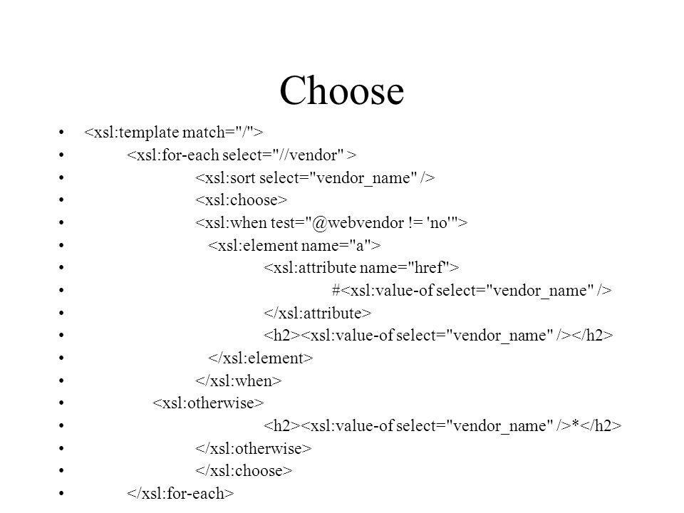 Choose # *