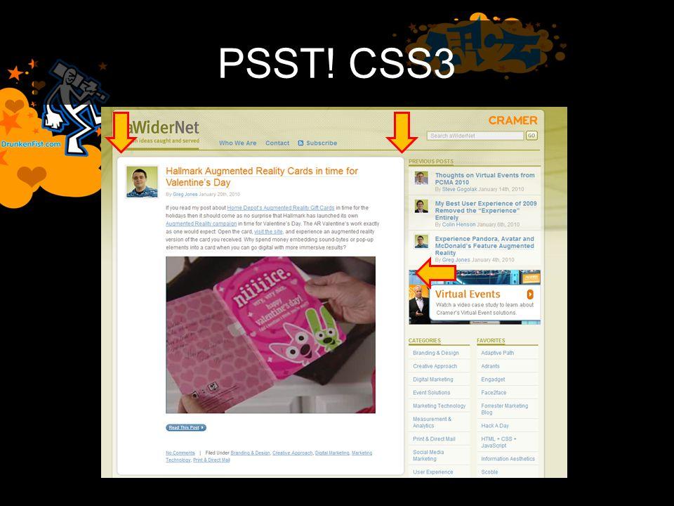 PSST! CSS3