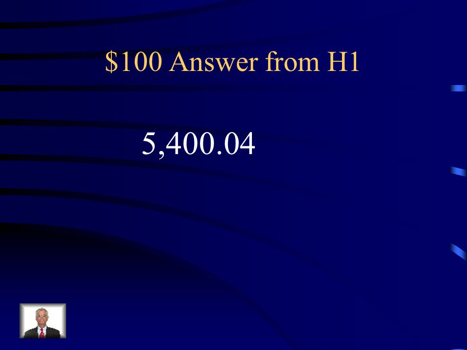 $100 Question from H1 Write a 6 digit numeral that has: 4 in the hundreds place, 5 in the thousands place, 4 in the hundreds place