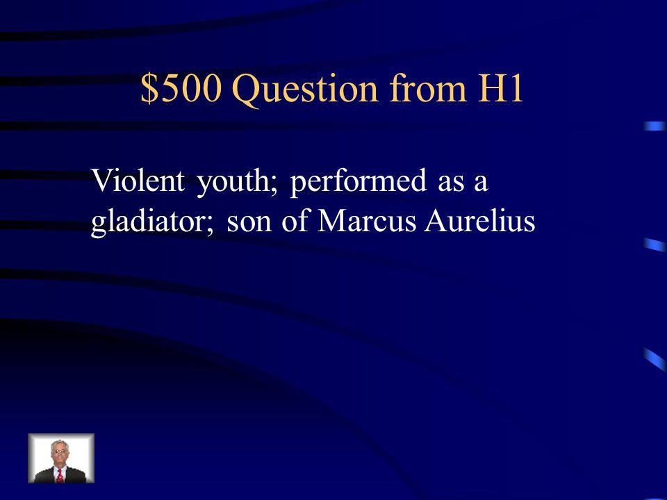 $400 Answer from H1 Scipio