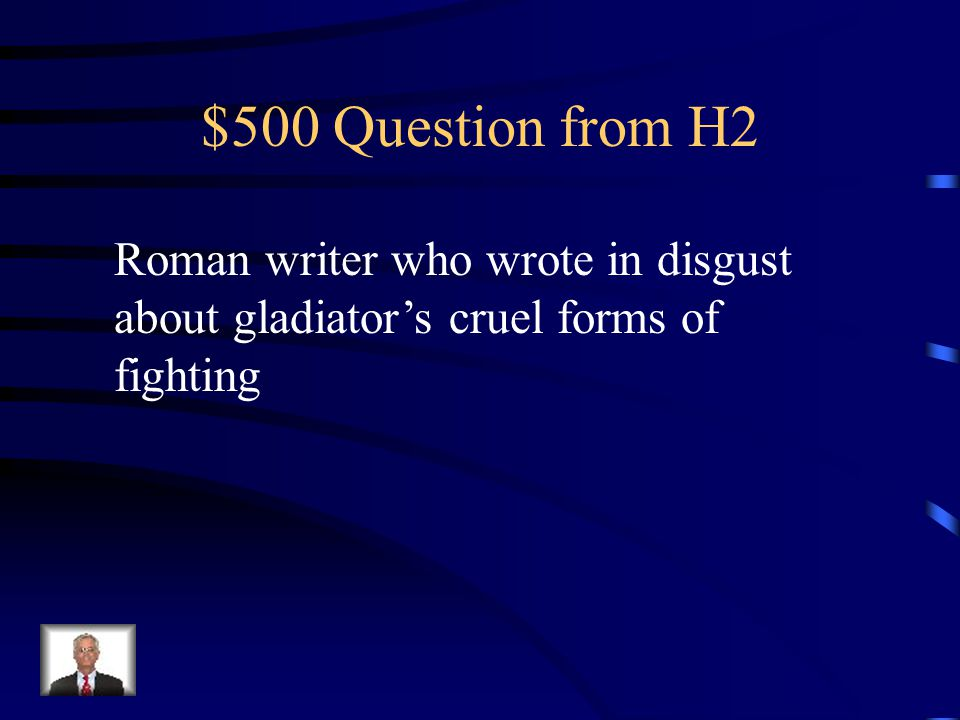 $400 Answer from H2 Julius Caesar