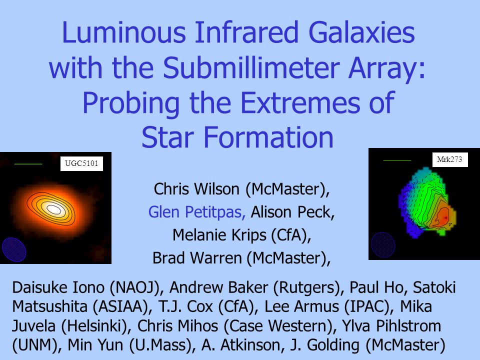 Luminous Infrared Galaxies with the Submillimeter Array 1.What are Luminous Infrared Galaxies.