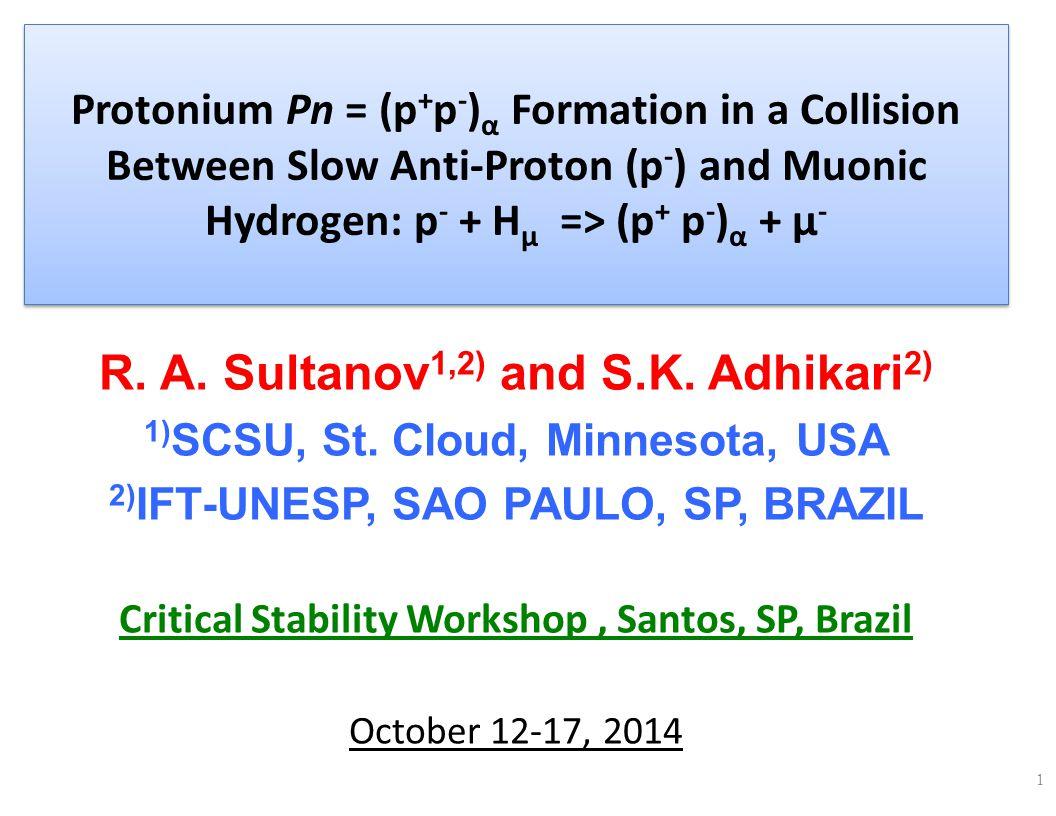Slow p physics: 1.ANTIMATTER: p -, Ps, Ħ, Pn, Ħ μ 2.Theory and experimental developments: ATRAP, ASACUSA, ALPHA … CERN 3.Anti-hydrogen, muonic antihydrogen, Ps atoms, slow antiproton capture, etc.
