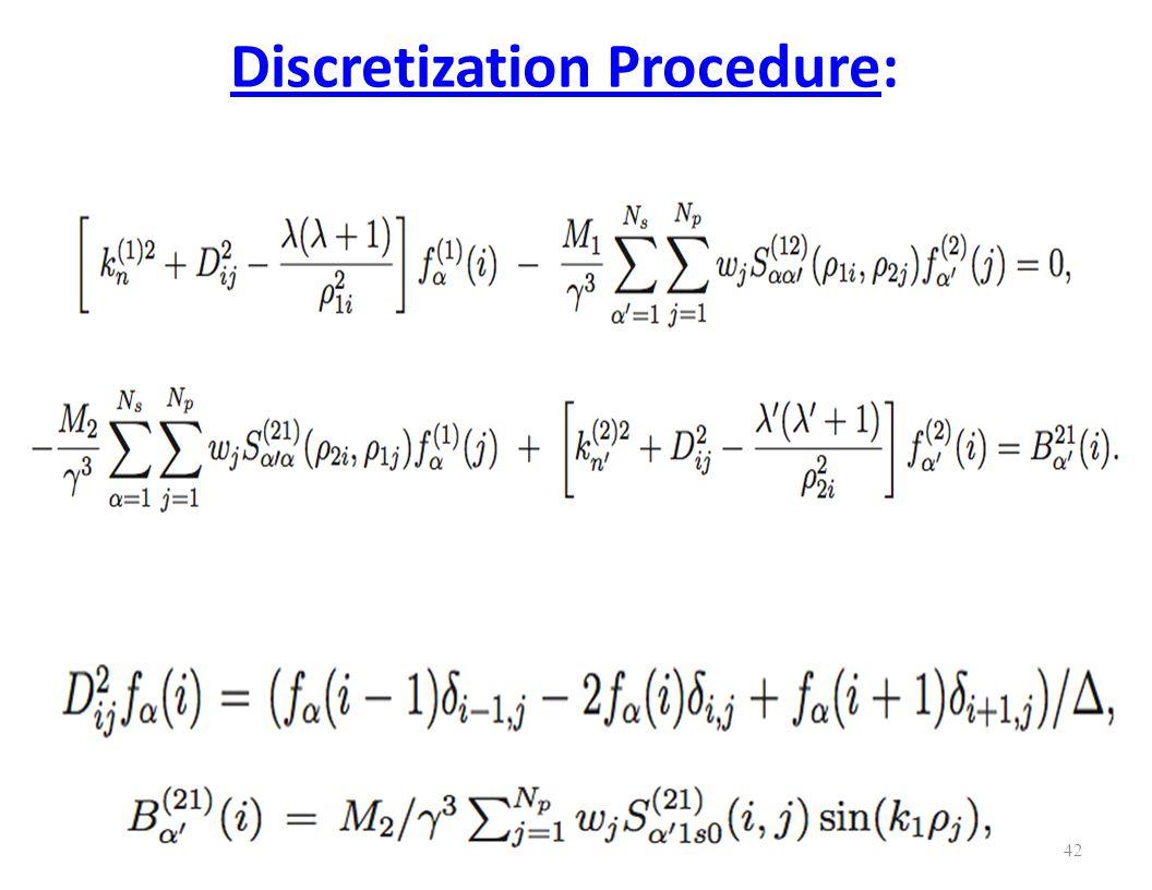 Discretization Procedure: 42