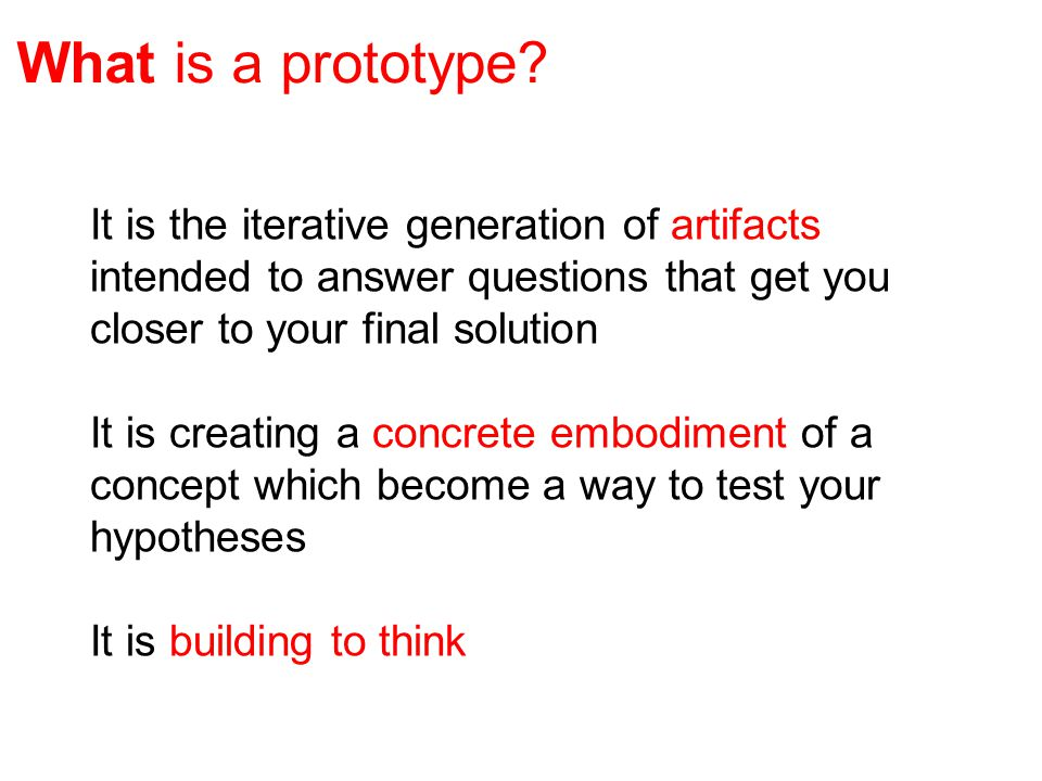 What is a prototype.