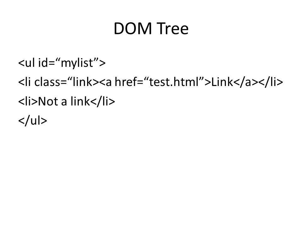 DOM Tree Link Not a link