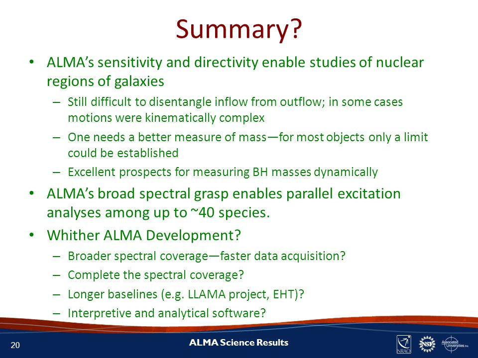 20 ALMA Science Results Summary.
