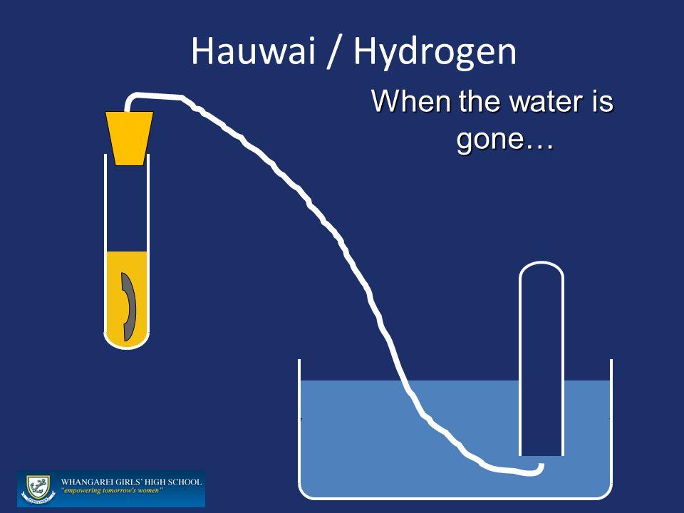 Hauwai / Hydrogen When the water is gone…