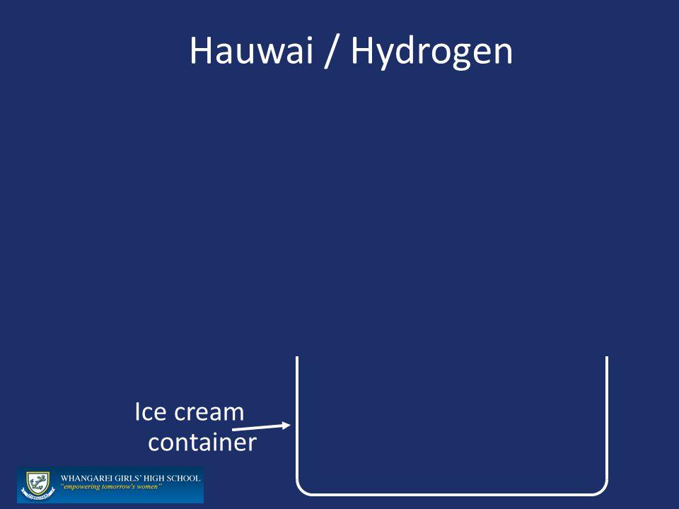Hauwai / Hydrogen Ice cream container