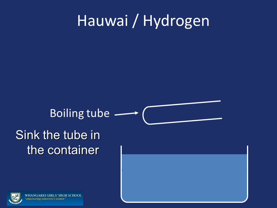 Hauwai / Hydrogen Boiling tube Sink the tube in the container