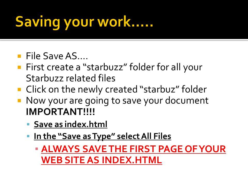  File Save AS….