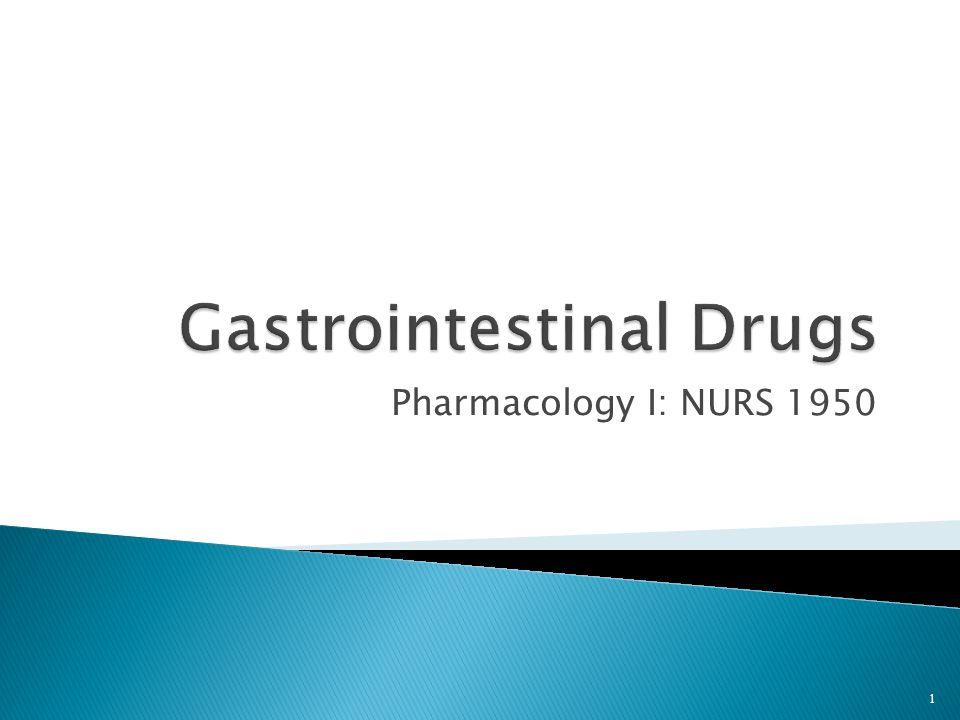 Pharmacology I: NURS 1950 1