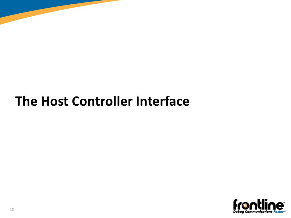 40 The Host Controller Interface