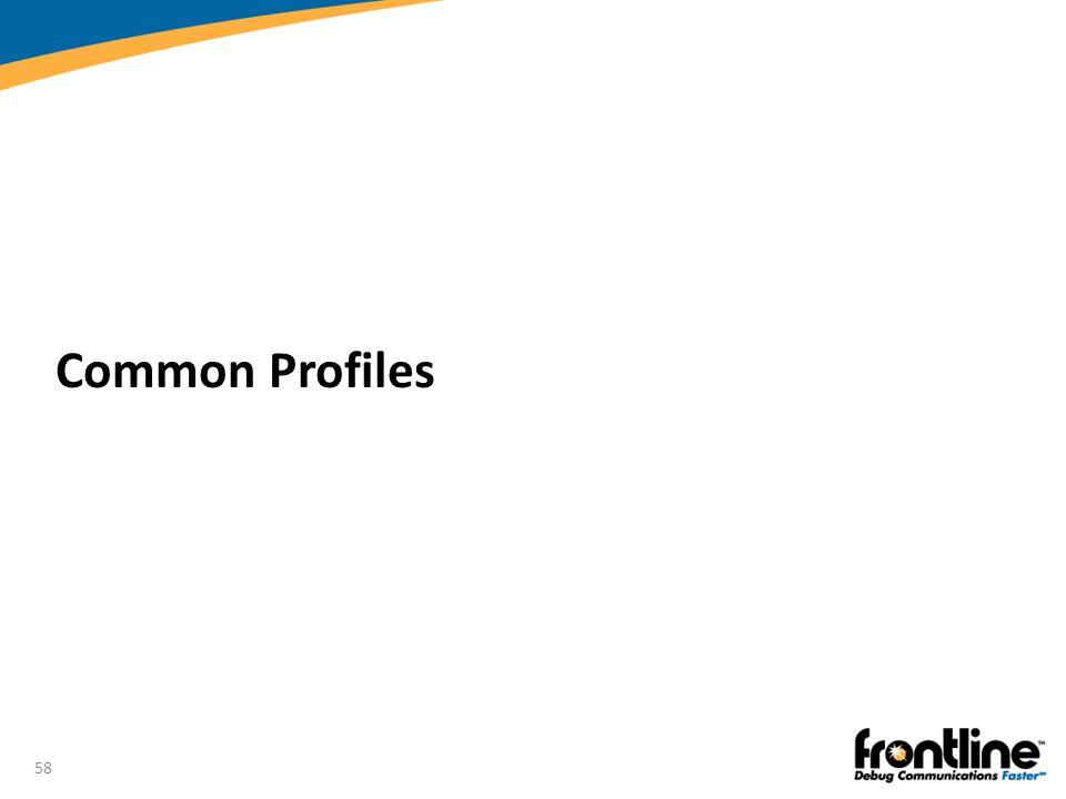 58 Common Profiles