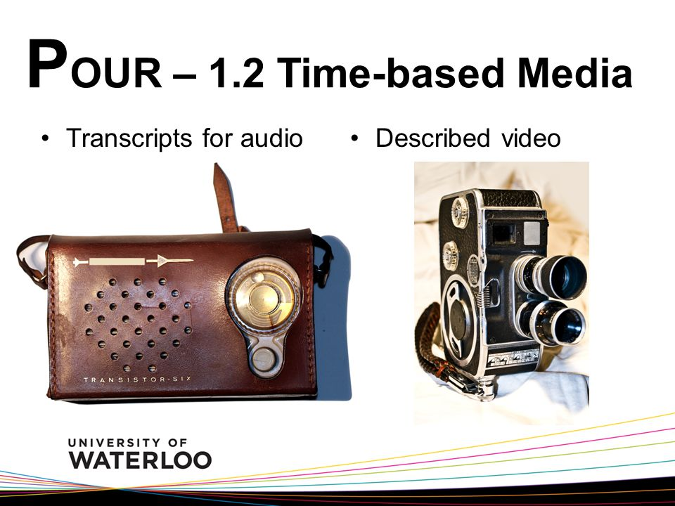 P OUR – 1.2 Time-based Media Transcripts for audioDescribed video