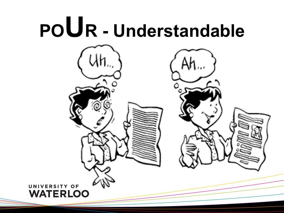 PO U R - Understandable
