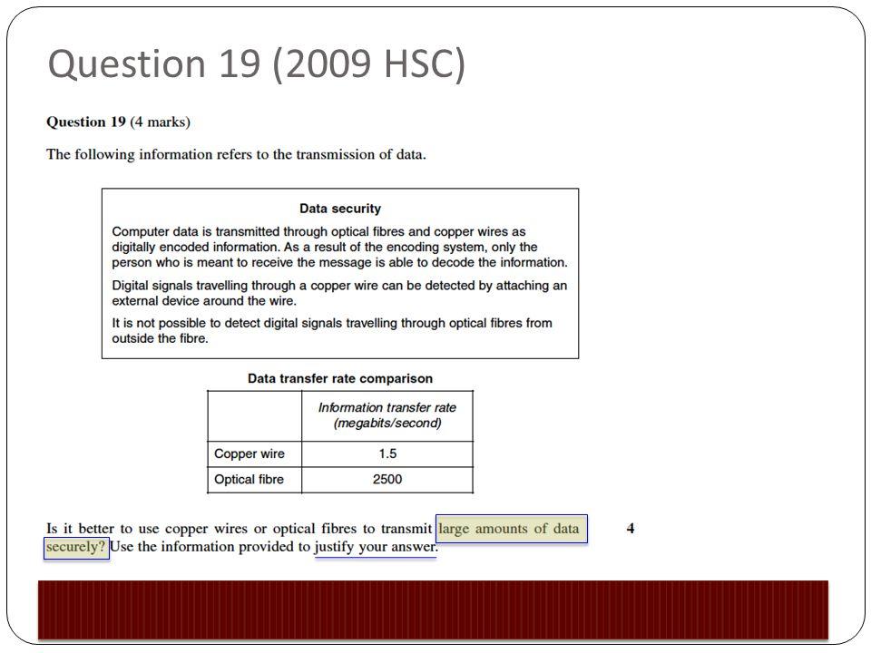Question 19 (2009 HSC)
