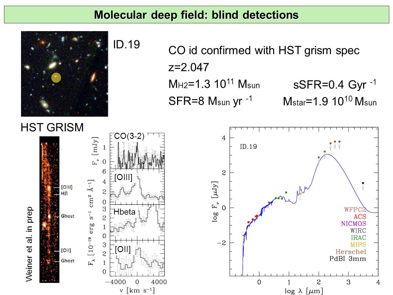 ID.19 Molecular deep field: blind detections HST GRISM Weiner et al.