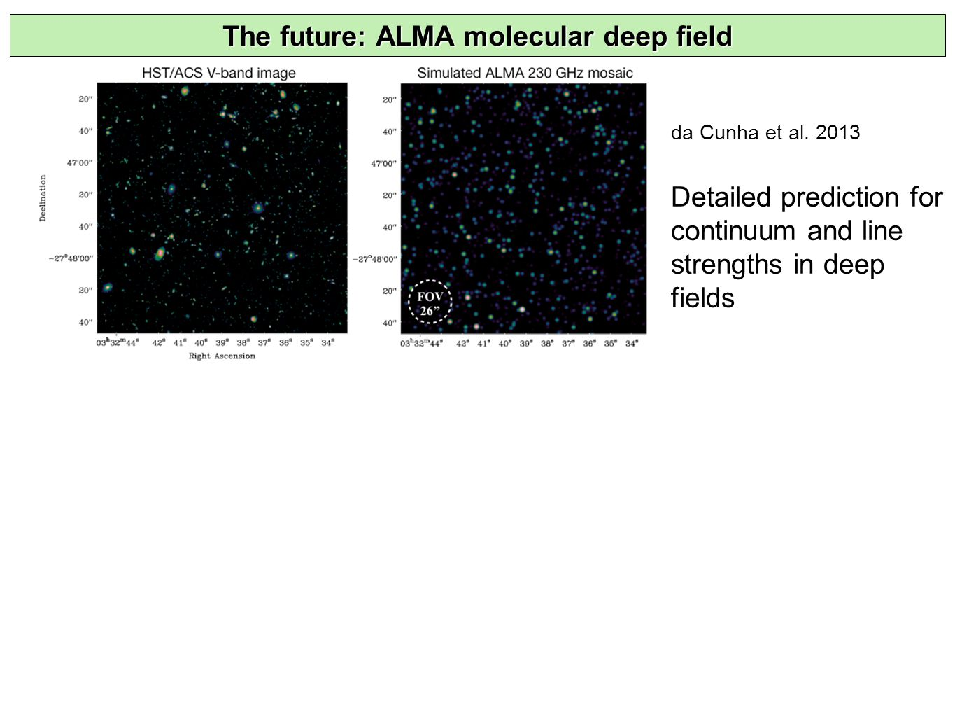 The future: ALMA molecular deep field da Cunha et al.