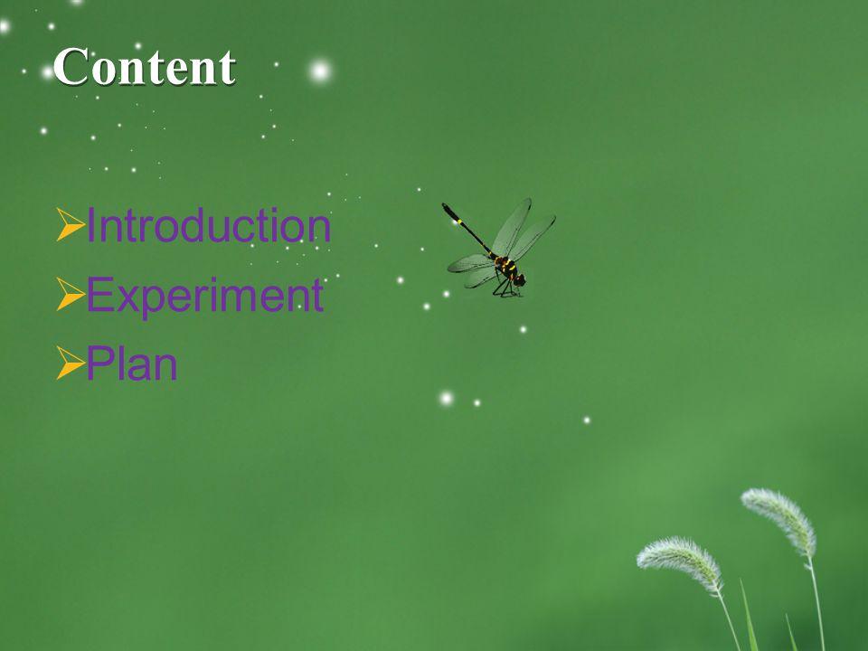 Content  Introduction  Experiment  Plan