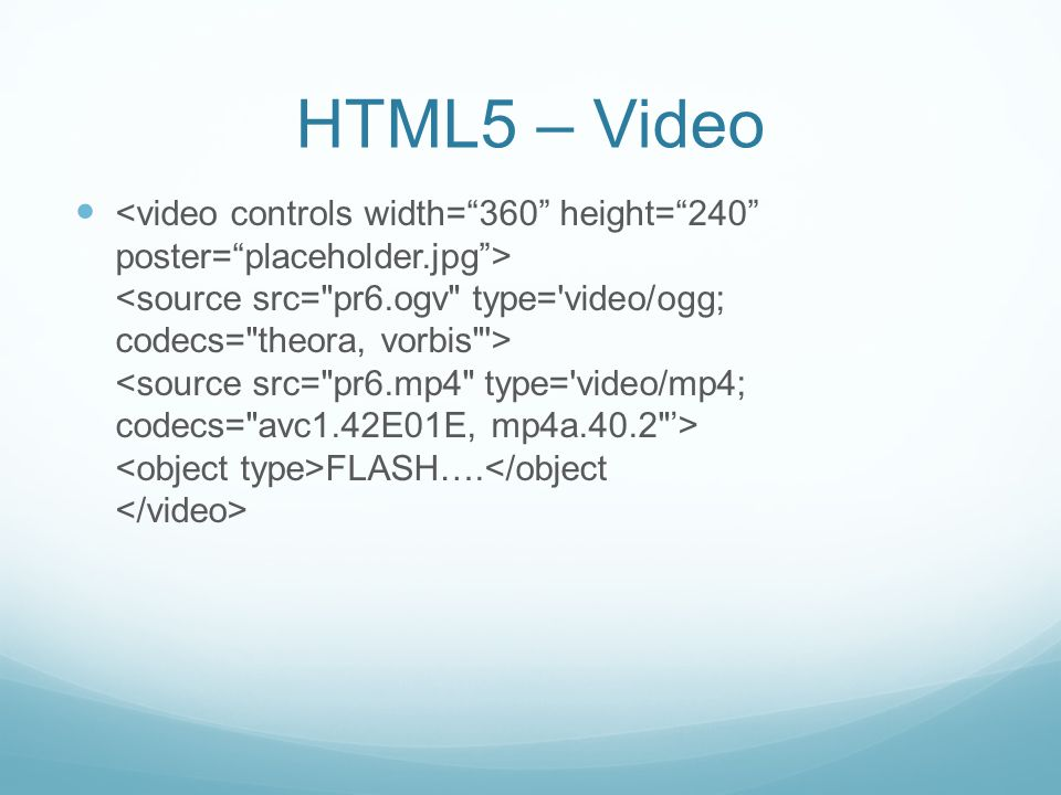 HTML5 – Stucture Header – container for a group of introductory or navigational aids Nav – Site-wide nav Section – Groups related content Article – Aside – A chunk of content considered separate from the main content Footer – Contains information about its containing element…who wrote it, copyright info, links to related content, etc.