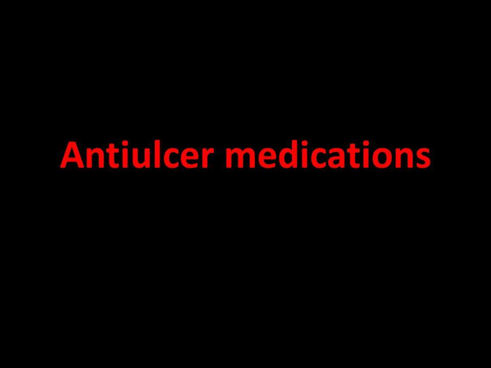 Antiulcer medications