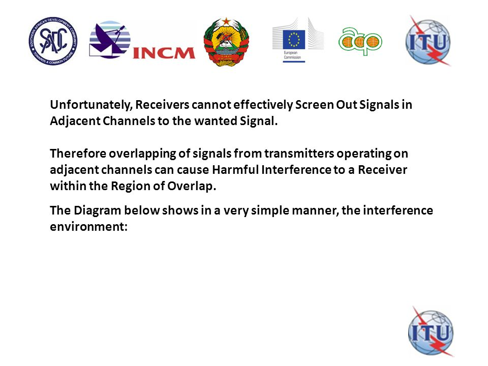 Unfortunately, Receivers cannot effectively Screen Out Signals in Adjacent Channels to the wanted Signal.