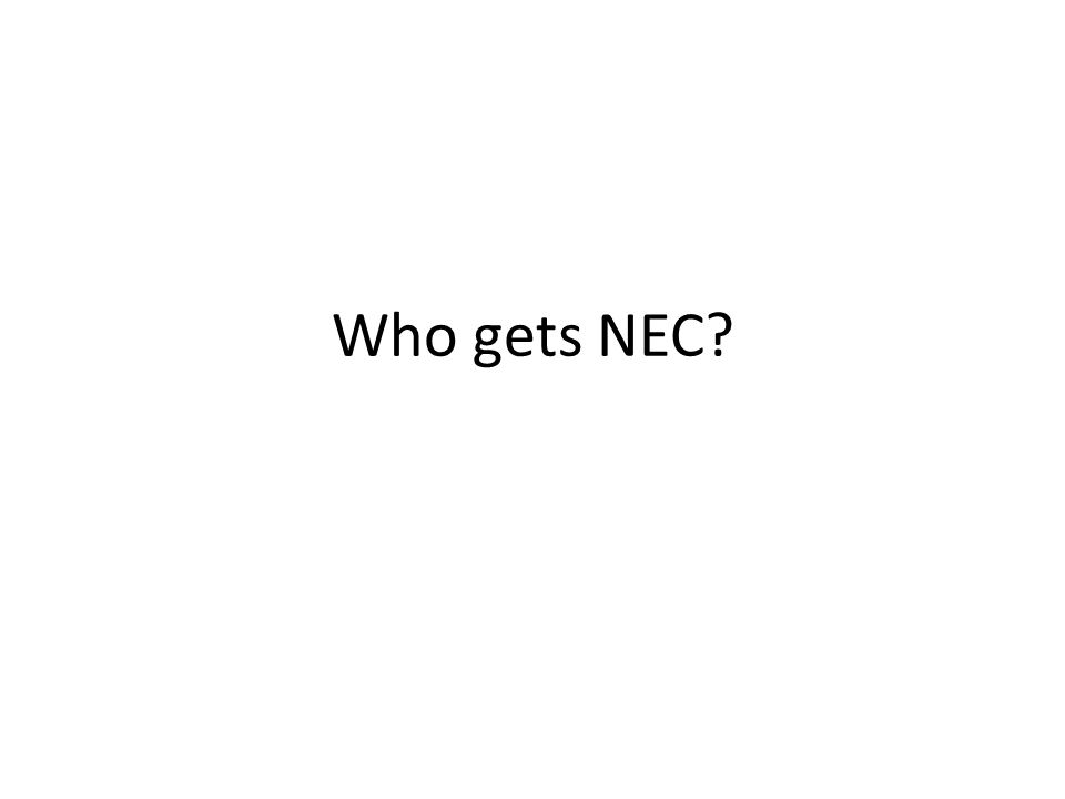 Who gets NEC?
