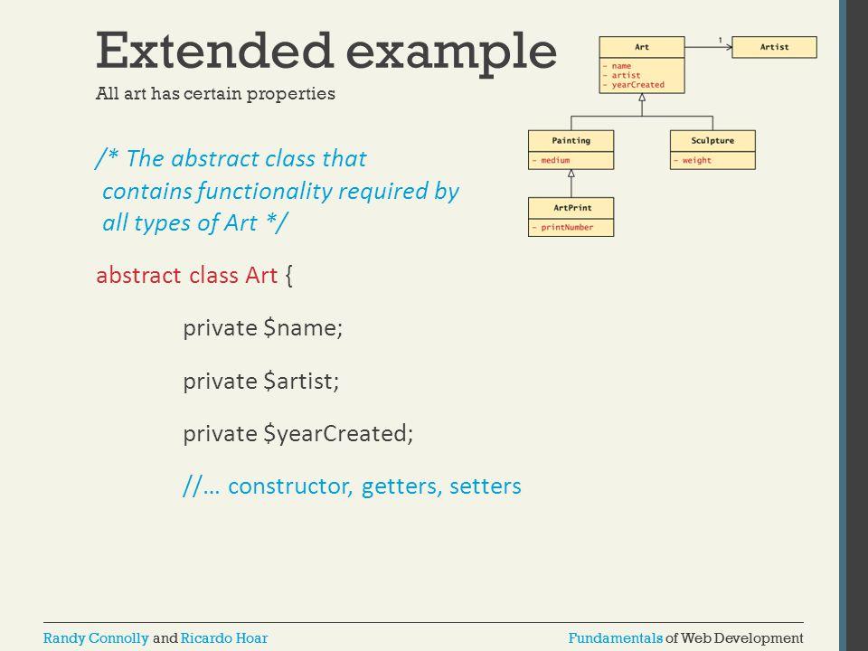 Fundamentals of Web DevelopmentRandy Connolly and Ricardo HoarFundamentals of Web DevelopmentRandy Connolly and Ricardo Hoar Extended example /* The a